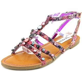 Steve Madden Bjeweled Open Toe Canvas Gladiator Sandal