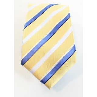 Countess Mara NEW Yellow Blue Mens Classic Silk Warner Striped Neck Tie