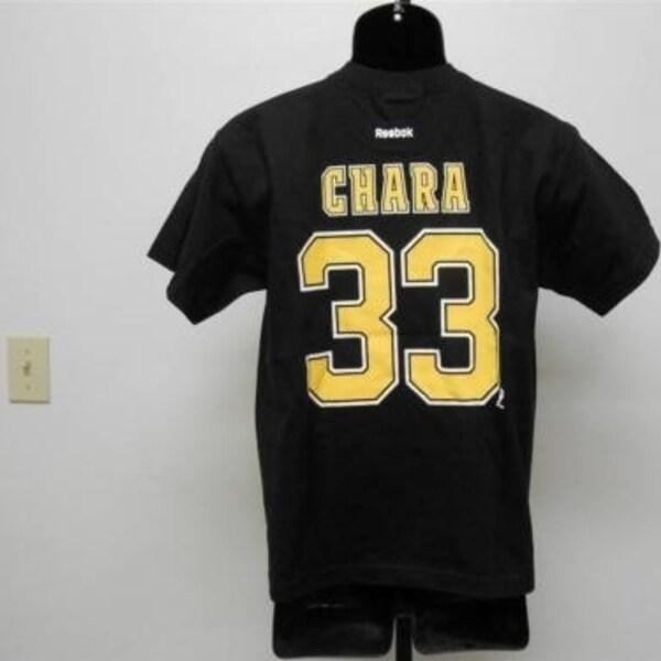 on sale 64ad9 e4b3b Minor-Flaw Zdeno Chara Bruins Youth L Large 14-16 T-Shirt By Reebok