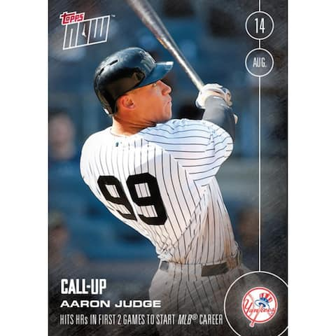 NY Yankees, Aaron Judge (Call-Up) MLB Topps NOW Card 356 - multi