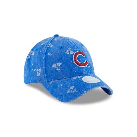 Chicago Cubs Floral Shine 9TWENTY Women's Adjustable Hat