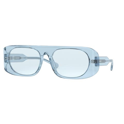 Burberry BE4322 388372 57 Transparent Azure Woman Square Sunglasses