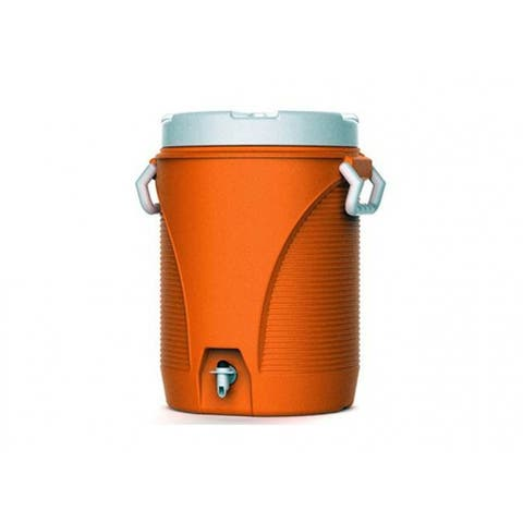 Rubbermaid 1841106 Water Cooler with Cup Dispenser, Orange, 5 Gallon