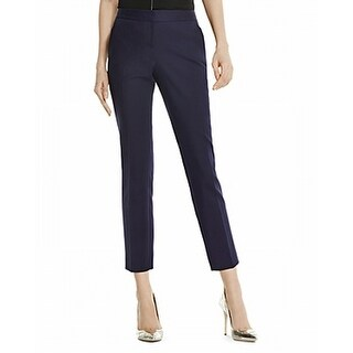 Vince Camuto NEW Solid Navy Blue Women's Size 6 Slim Cropped Pants