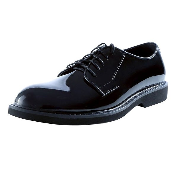 Ridge Outdoors Shoes Mens Oxford Lite High-Gloss Black Patent