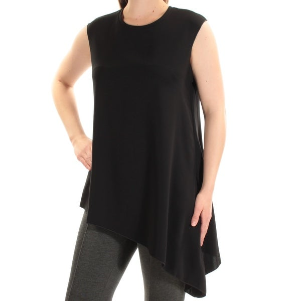 26db19a7fde Shop Womens Black Sleeveless Jewel Neck Top Size 12 - Free Shipping On  Orders Over  45 - Overstock.com - 23455976