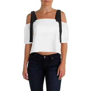 Lucy Paris Womens Casual Top Colorblock Off-The-Shoulder (2 options available)