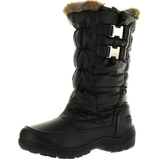 Totes Womens Bunny Waterproof Winter Snow Boots - Black