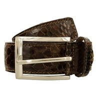 Maury U013 SERPENTE MARRONE Brown Leather Mens Belt - 38