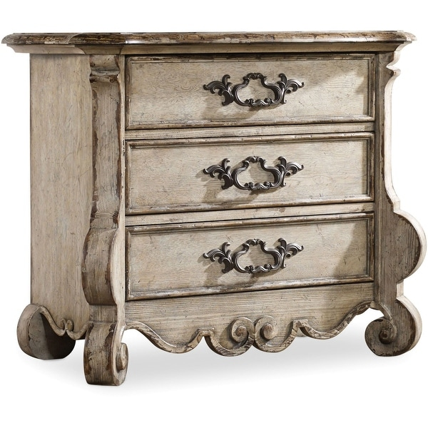 "Hooker Furniture 5350-90017 37"" Wide 3 Drawers Hardwood Nightstand from the Chatelet Collection - Paris Vintage"