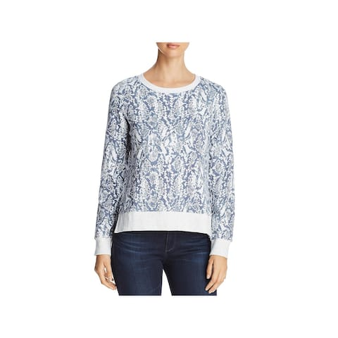 Marc New York by Andrew Marc Womens Pullover Top Printed French Terry - XS