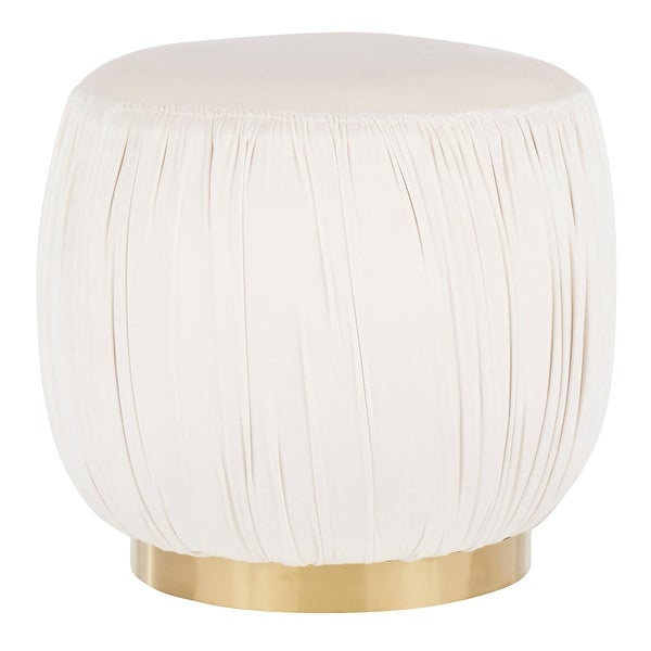 Silver Orchid Ralph Velvet & Gold Contemporary Metal Ottoman. Opens flyout.