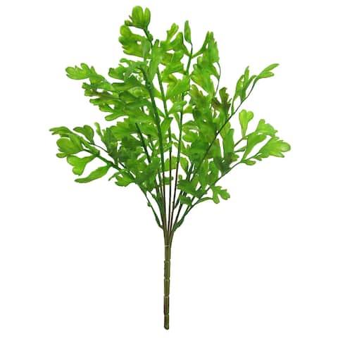 """Set of 2 Staghorn Fern Leaf Greenery Foliage Bush 18in - 18"""" L x 10"""" W x 9"""" DP"""