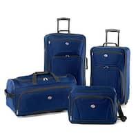 American Tourister Fieldbrook II 4 Piece Luggage Set, Moroccan Blue