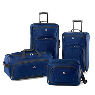 American Tourister Fieldbrook II 4 Piece Luggage Set, Moroccan Blue