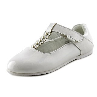 Pediped Victoria Youth Round Toe Patent Leather White Mary Janes