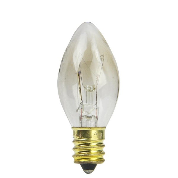 Pack of 25 Incandescent C7 Clear Christmas Replacement Bulbs