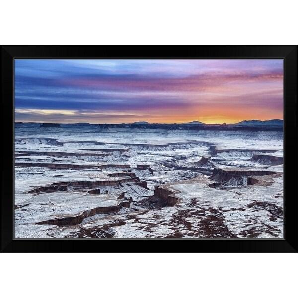 """Green river overlook"" Black Framed Print"