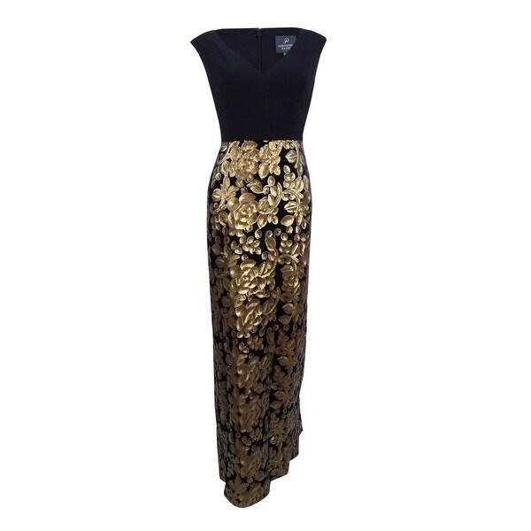 a429b429fe Shop Adrianna Papell Women s Sequined Velvet Jersey Gown (2