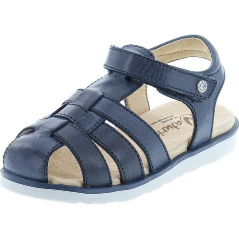 Naturino Boys Closed Toe Adjustable Stylish Comfort Fisherman Sandal - Navy