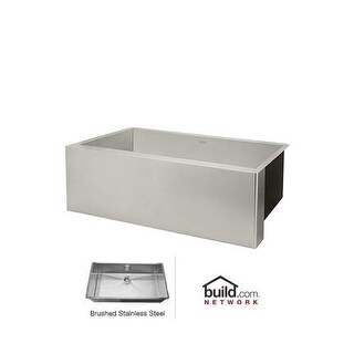 "Rohl RSA3018SB 32"" Single Basin Drop-In Stainless Steel Kitchen Sink"