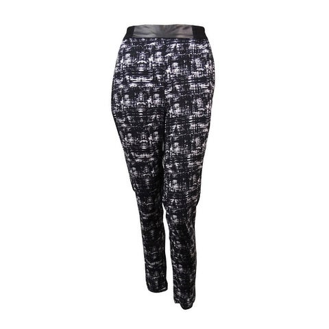Kensie Women's Abstract Print Stretch Waistband Pants - String Combo - XS