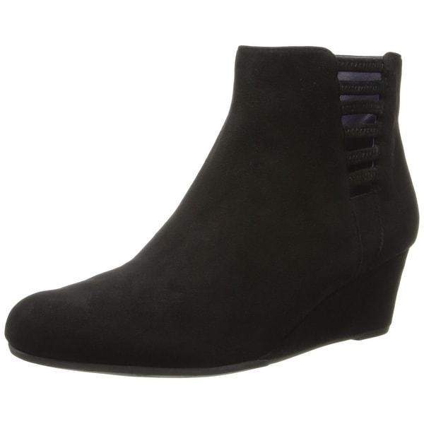 Vaneli Black Laban Shoes Size 6M Zip Ankle Suede Boots