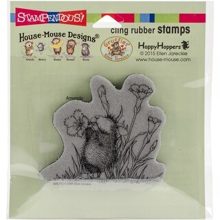 """Stampendous House Mouse Cling Stamp 2.25""""X2.75""""-Floral Trumpet"""