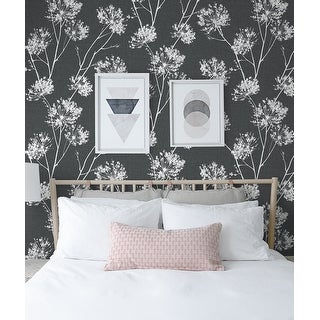 NextWall One O'Clocks Botanical Peel and Stick Removable Wallpaper
