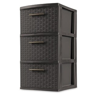 Sterilite Drawer Weave Tower, Espresso Frame & Drawers with