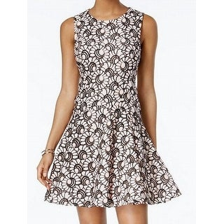 Tommy Hilfiger Black Womens Fit Flare A-Line Dress