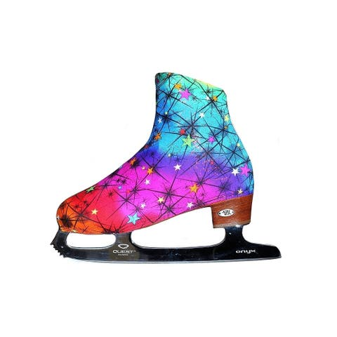 Ice Fire Skating Rainbow Color Boot Cover - One Size