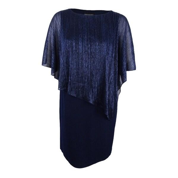 Shop Connected Women's Plus Size Sheer Capelet Sheath Dress