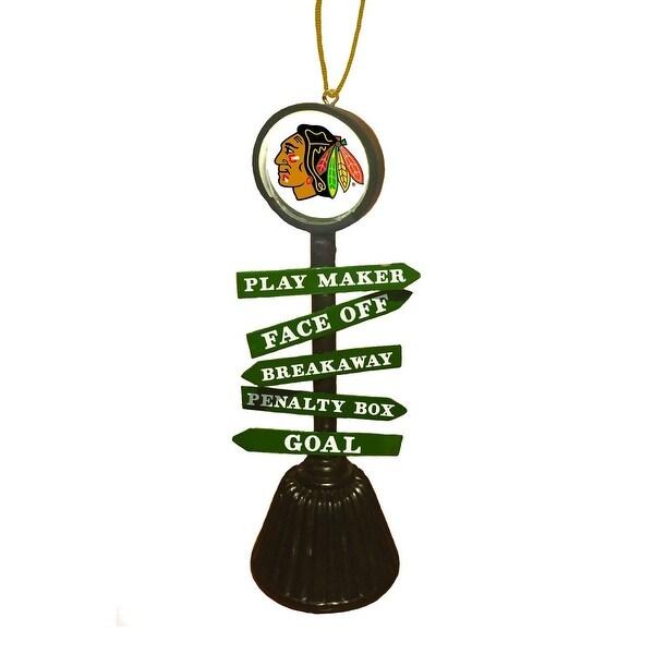Chicago Blackhawks Fan Crossing Ornament