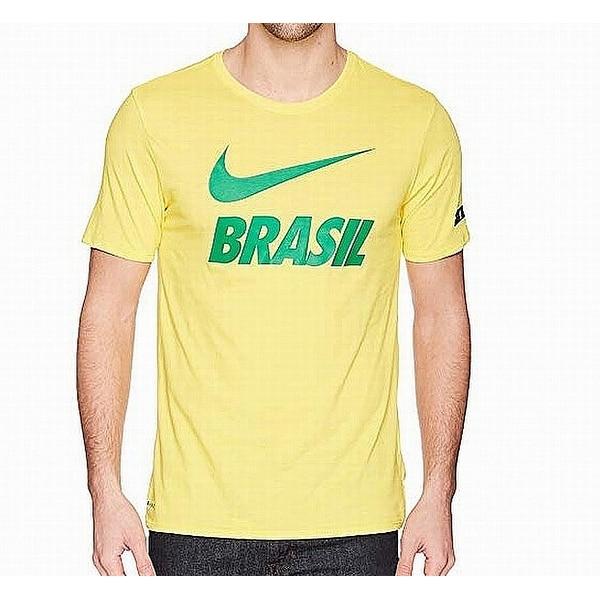 d1a9f4c1 Shop Nike Yellow Green Mens 2XL Brasil Graphic Crewneck Tee T-Shirt ...