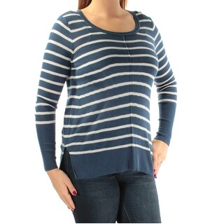 HIPPIE ROSE Womens New 1042 Blue White Striped Long Sleeve Sweater L Juniors B+B