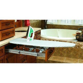 Rev-A-Shelf VIB-20 VIB Series 21 Inch Vanity Base Cabinet Pull Out Ironing Center - CHROME - N/A