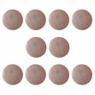 Chair Seats Tan Leather Round 12 Dia Embossed Set of 10 Renovator's Supply