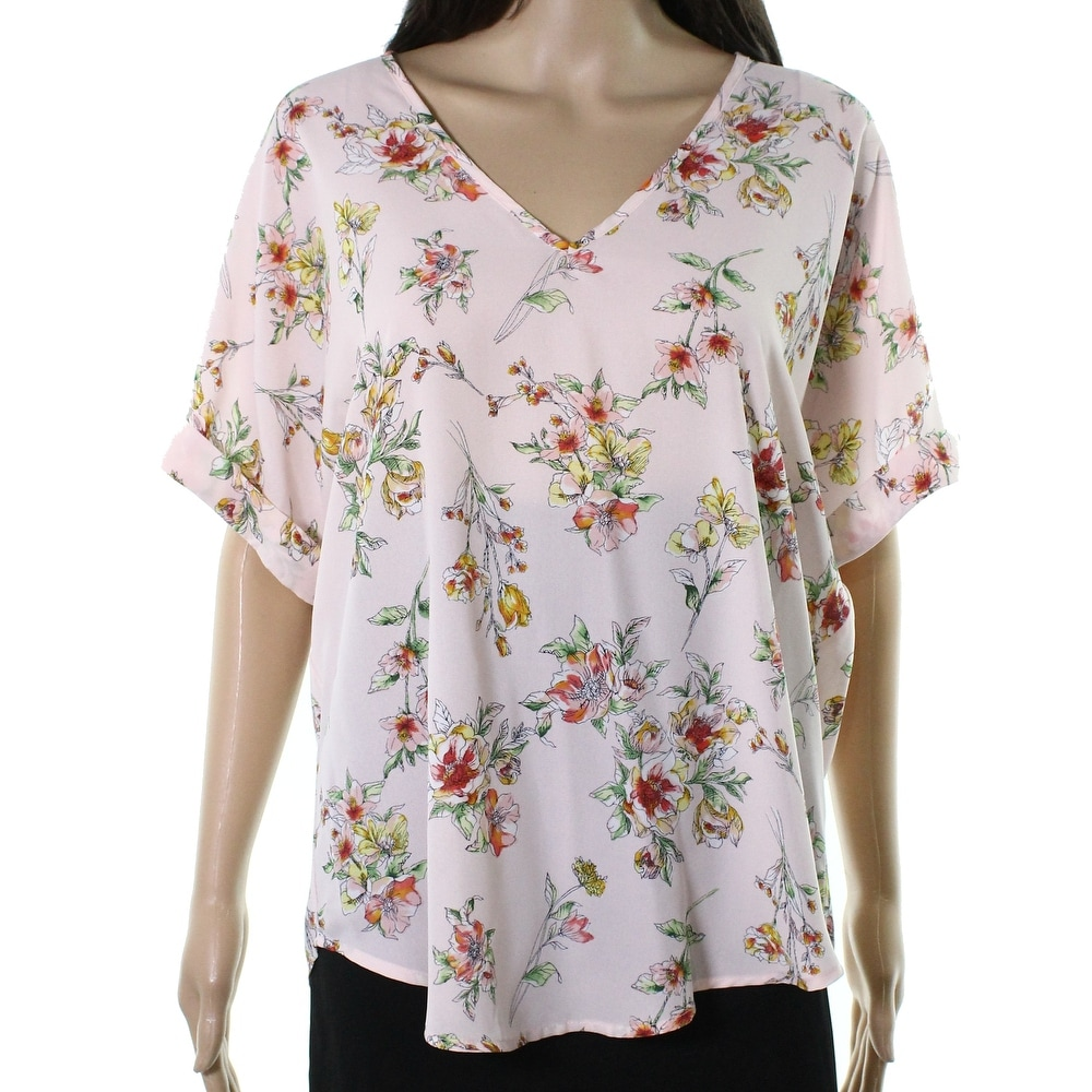 Roxy Womens Lush Floral Cold Shoulder Top