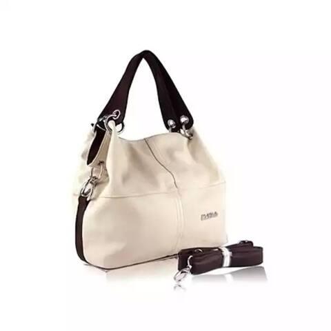 Women Pu Leather Splice Grafting Vintage Hobo Shoulder Bags
