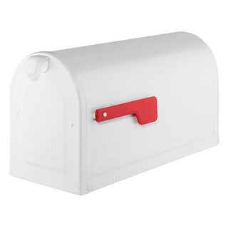 Architectural Mailboxes 7900-10  MB2 Post Mount Mailbox with Red Flag
