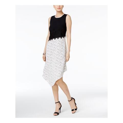 ALFANI Black Sleeveless Below The Knee Dress Size 16