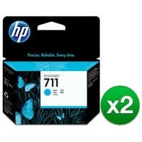 HP 711 29-ml Cyan DesignJet Ink Cartridge (CZ130A)(2-Pack)