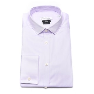 Versace Men Trend Cotton Dress Shirt Lilac
