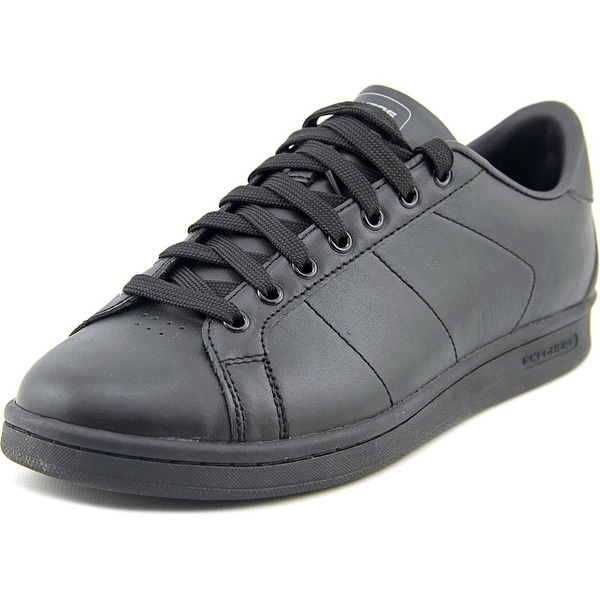 Skechers Omne Men Round Toe Leather Black Sneakers