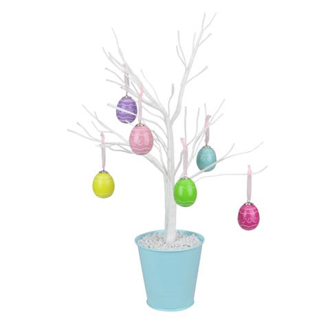 "18"" Pastel Colored Spring Easter Egg Table Top Tree - N/A"