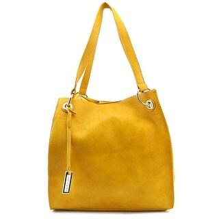 Urban Originals Commited Bag Women Synthetic Satchel - Yellow