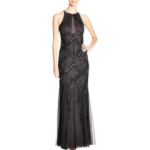 Shop Aidan Mattox Womens Formal Dress Mesh Embellished Free
