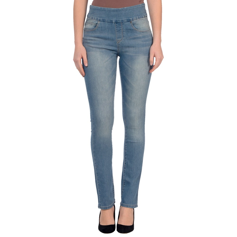 Lola Jeans Rebeccah-MLB, High Rise Pull On Straight Leg With 4-Way Stretch - Thumbnail 0