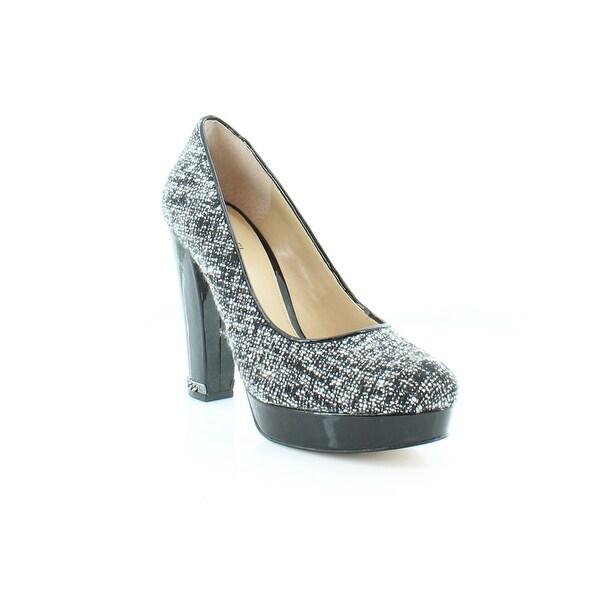 Michael Kors Sabrina Platform Pumps Women's Heels Blk/Wht - 7.5